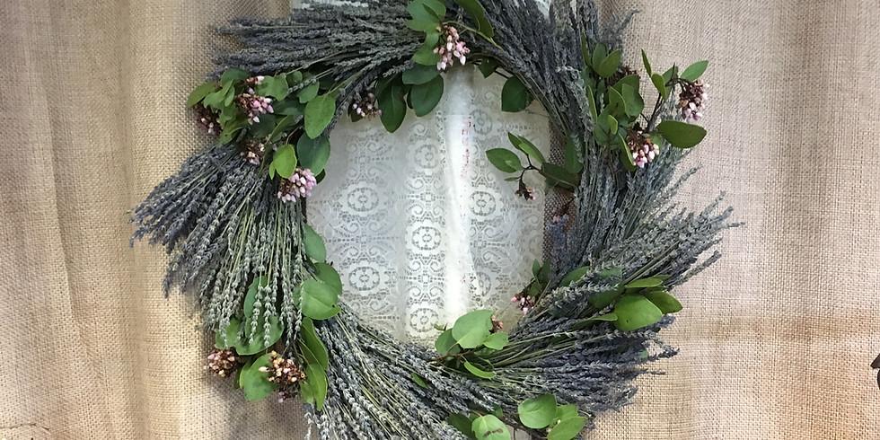 Workshop-Lavender Wreaths With Multi Lavender Varieties.  (1)