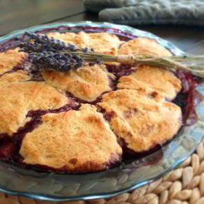 Raspberries, Nectarine and Lavender Cobbler- Lavineyard Farms