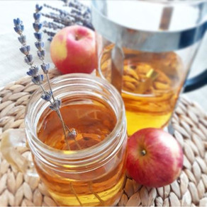 Hot Apple Cider With a Touch of Lavender- For lazy people.