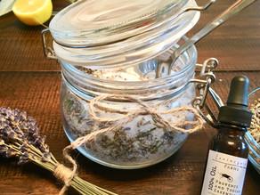 DIY- Lavender & Fresh Lemon Foot Soak Recipe For Stress-Relief & Detox.