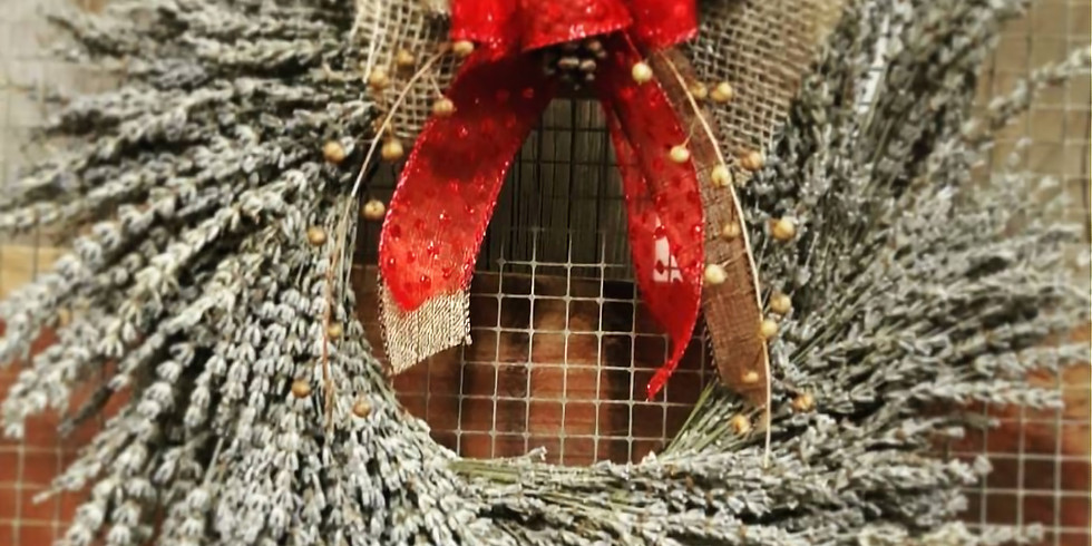 Lavender Wreaths Workshop with a touch of Christmas! Dec14th
