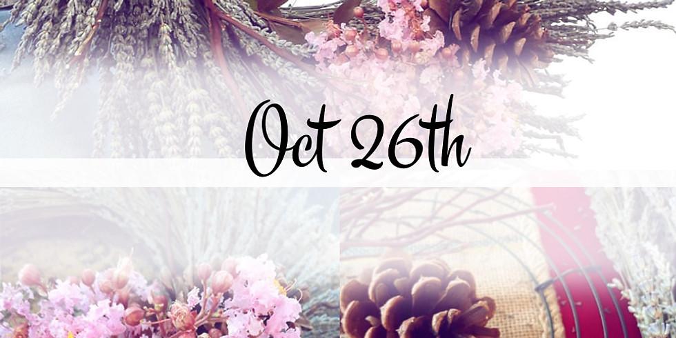 Lavender Wreaths Workshop! Oct 26th! Shasta Lake Farmers Market