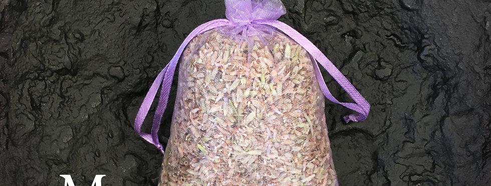 White M Size Dried Lavender Flowers Sachet, 100% Raw, 1oz