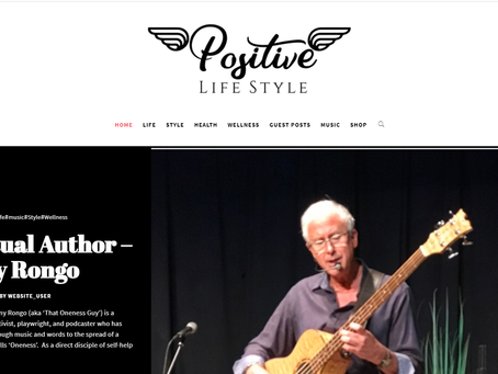 Featured Artist in 'Positive Lifestyle UK'