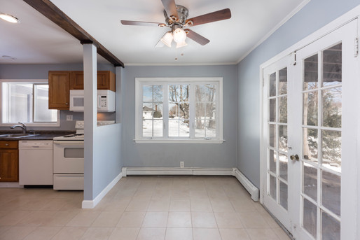 Beautiful kitchen and dining/living area in one of our rental spaces.