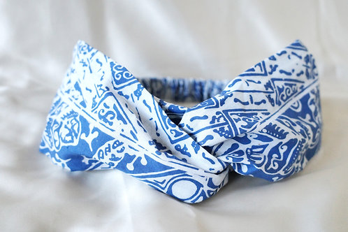 Haarband blue/white