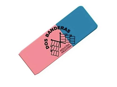 Cod. - 1718 - Goma De Borrar 2Banderas Azul/Rojo X40 214