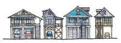 Beach House Row in Rockport, TX