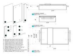 Cutlist + Dimensions