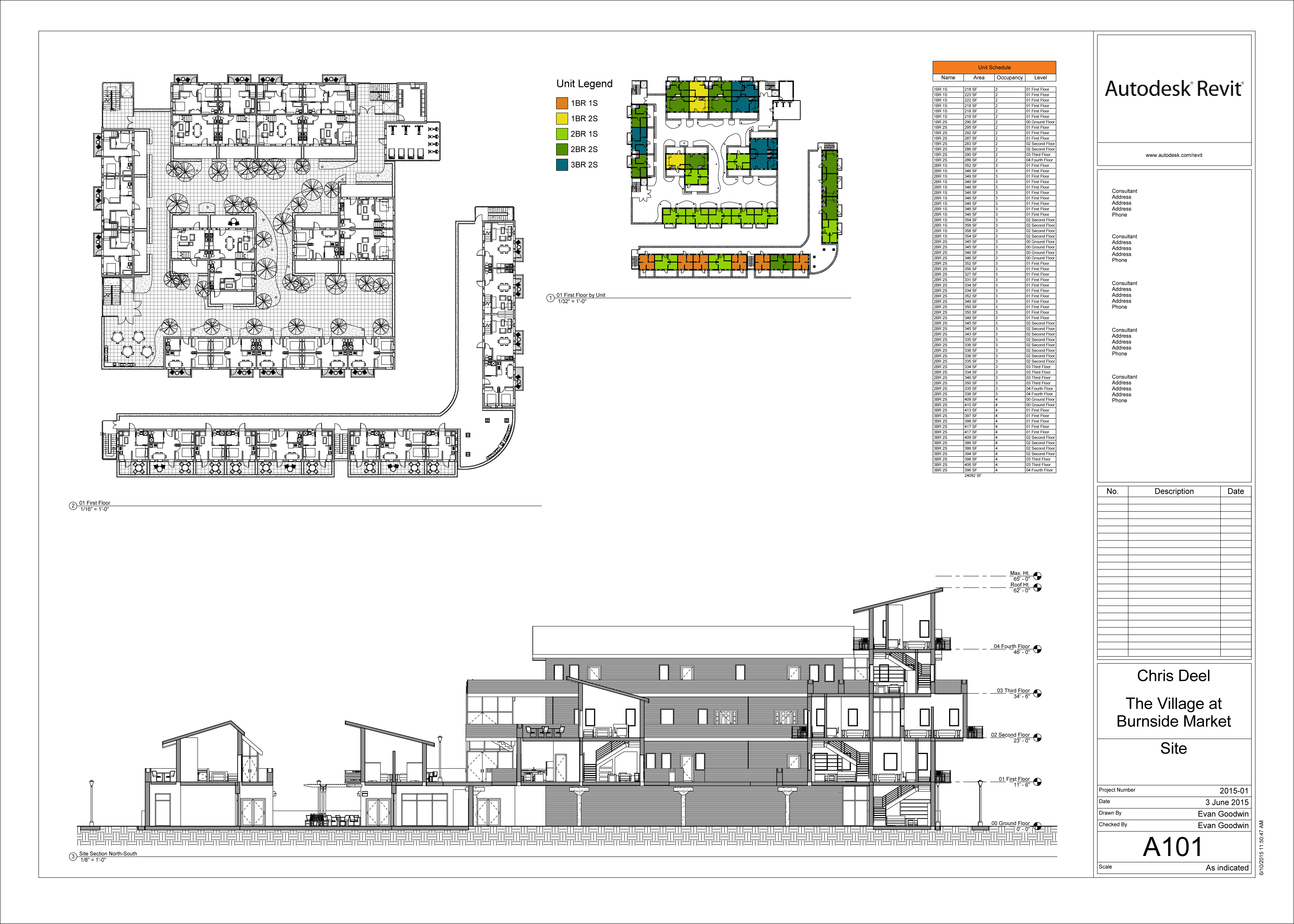 Revit Sheet with Site Information