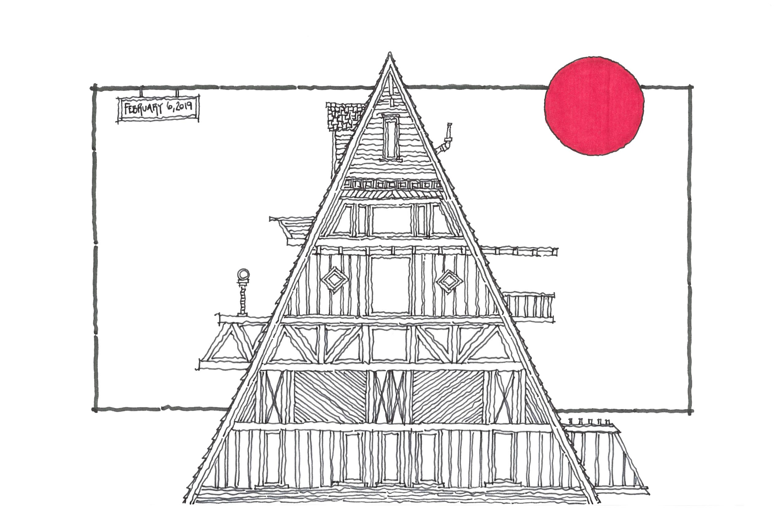 Mountain Lodge Doodle