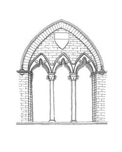Window Detail at Palazzo Pubblico