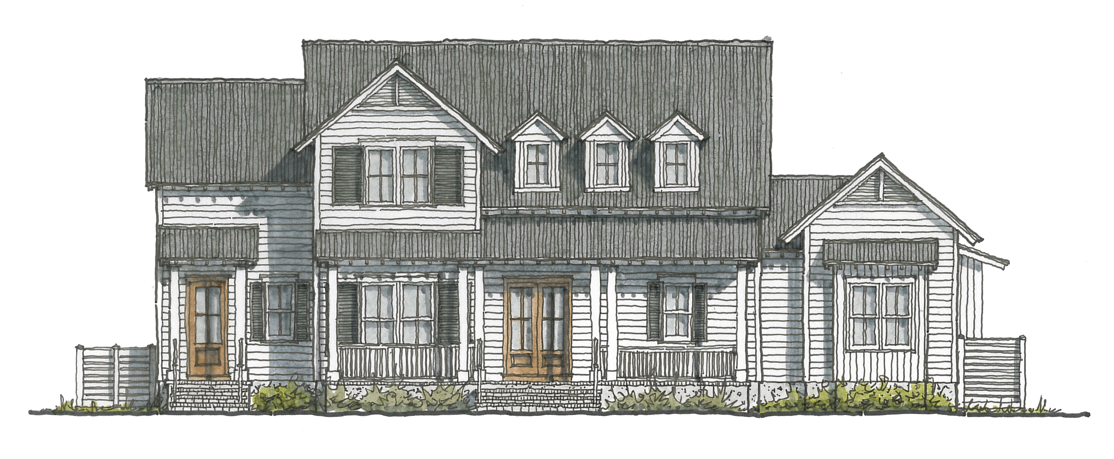 Private Residence in Palmetto Bluff0.03.24 Skiba Front Elevation Sketch.