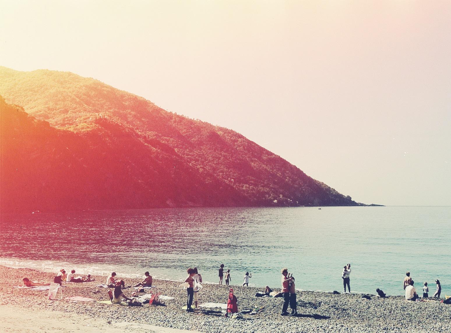 Beach in Camogli