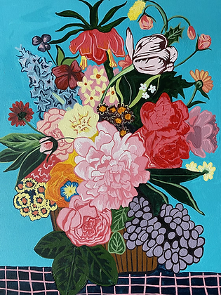 'flowers IIII' painting