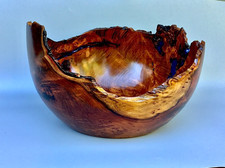 Redwood with resin