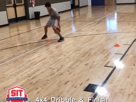 4x4 Dribble & Finish Drill