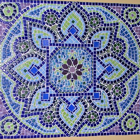Cool Tone Flower Mandala