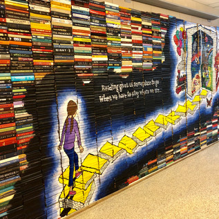 Recycled Book Mural  - EMS
