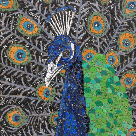 Scrabble Peacock