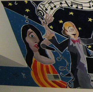 Music Mural - Vanguard Music Studio Moni