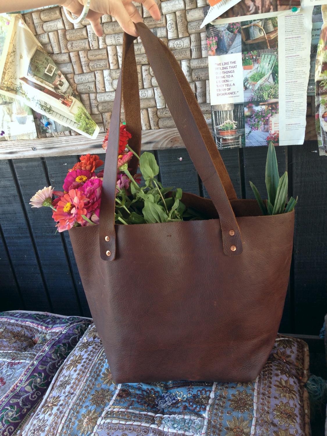 Brother John Leather Tote