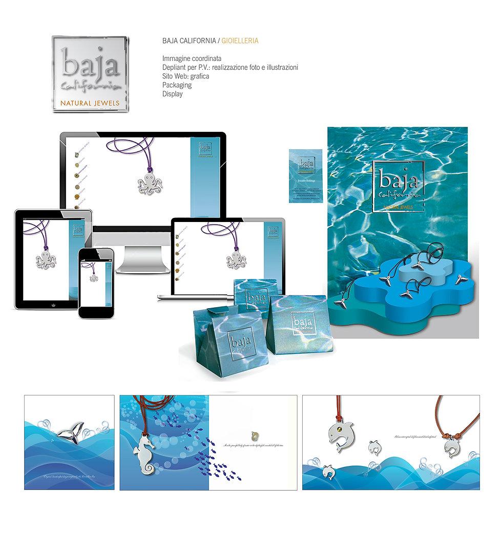 GIOIELLI IN ACCIAIO, GRAFICA, Display vetrina, packaging gioielli, Baja California