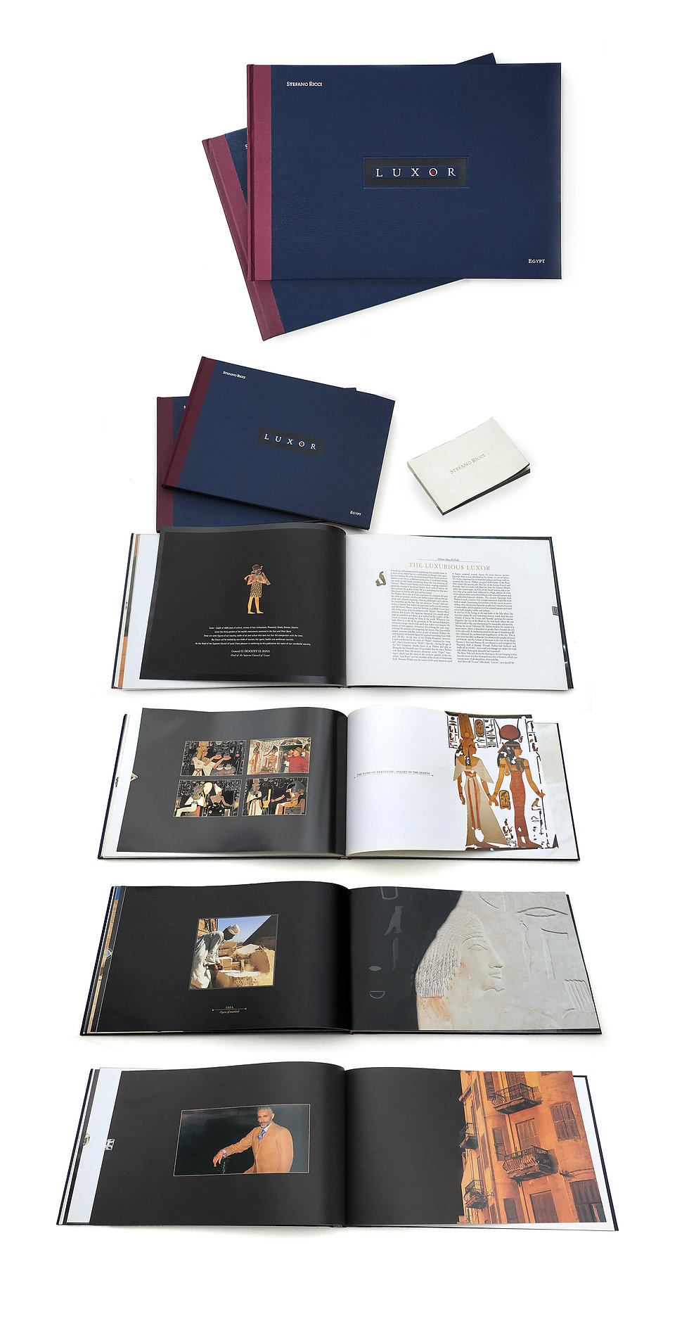 Luxor, editoria di lusso,Stefano Ricci, Coffe-table book, grafica, luxury wear, luxury design