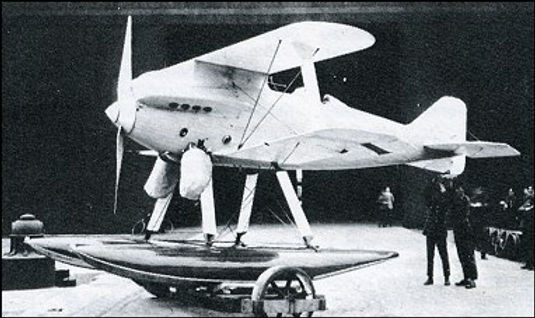 The Gloster II aircraft with strut radia