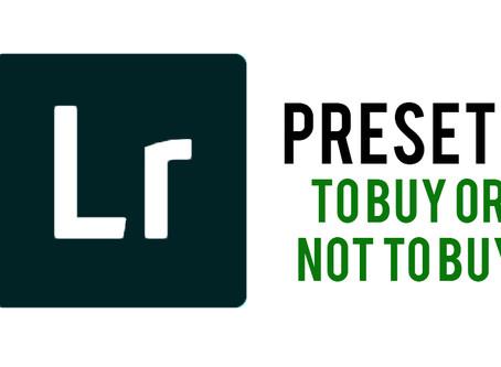 Lightroom Presets: Should I Buy Them?