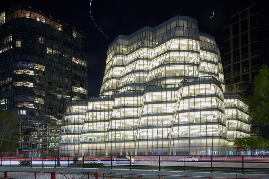 The IAC Building in Manhattan, NYC at Night - Architecure Photography