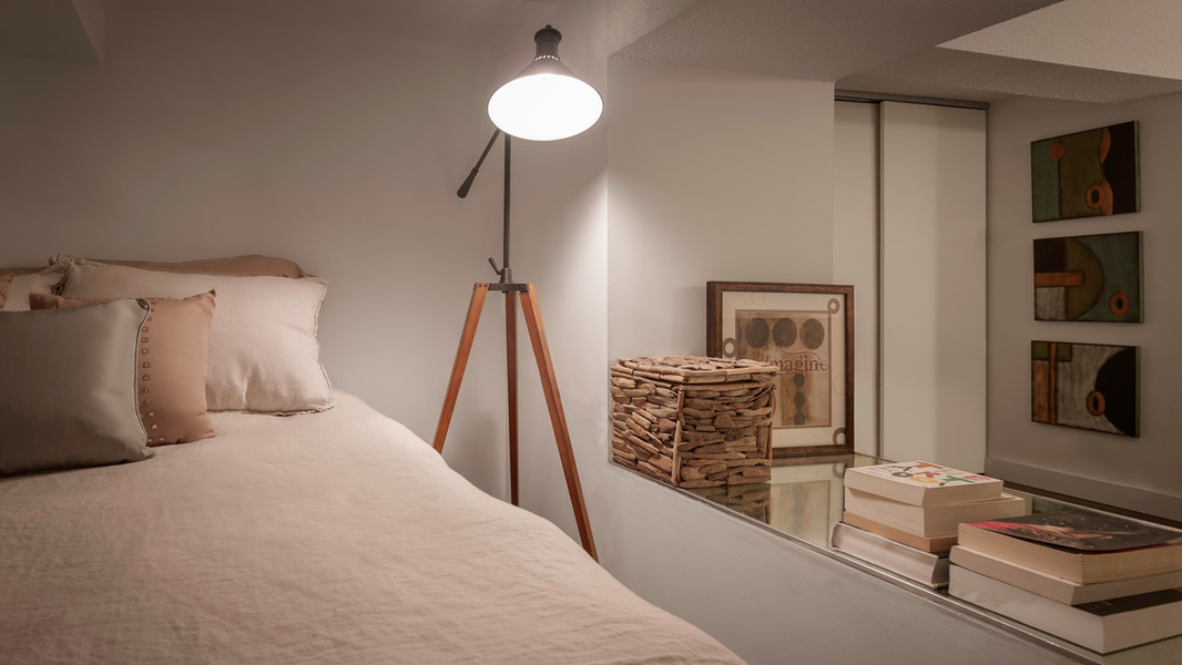 Loft bedroom on East 49th St in Manhattan, NYC