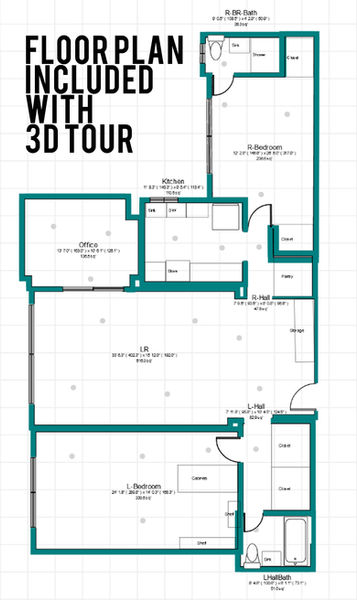 Ten South Media Floor Plan with 3D tour