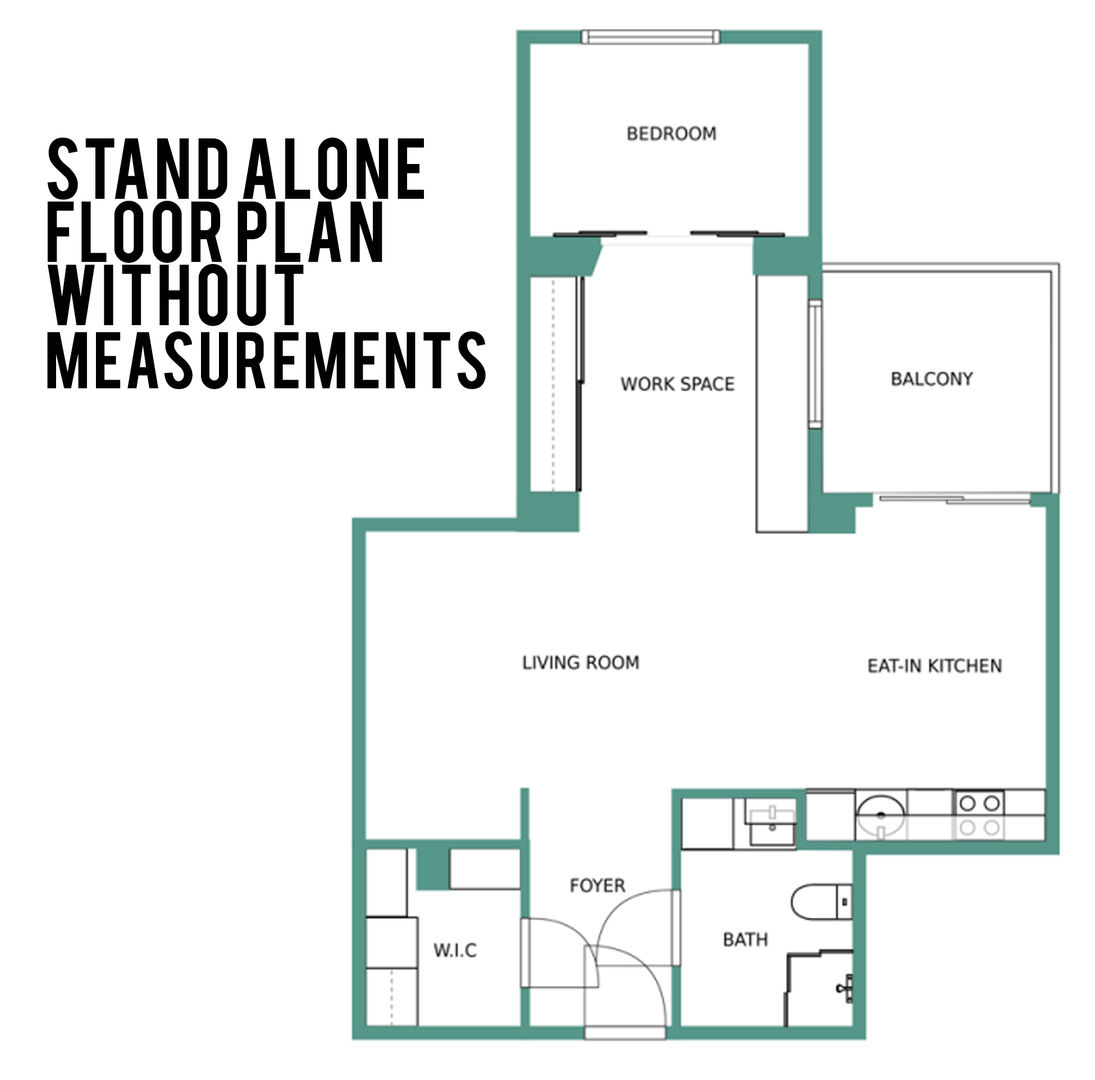 Ten South Media Floor Plan without measurments.