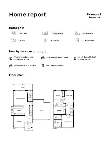 Ten South Media Floor Plan with home report