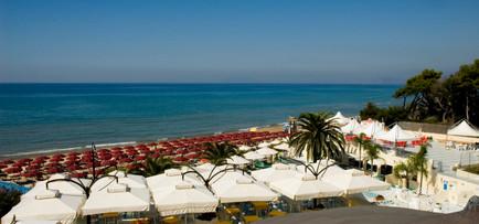 veduta spiaggia dal terrazzo