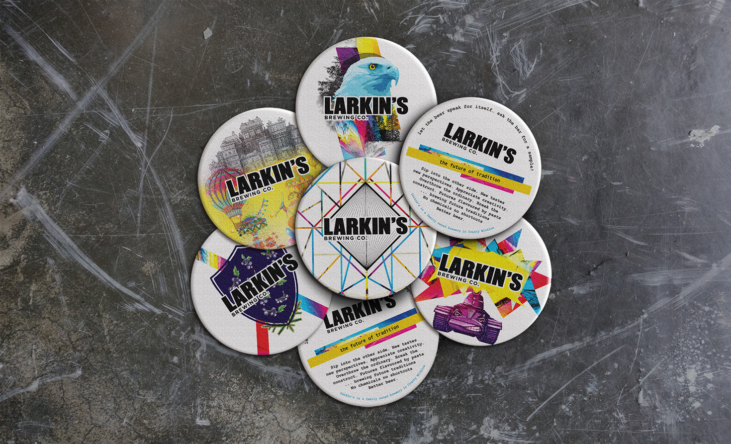 Larkin's Brewing Co. Promotional Elements for Campaign Design