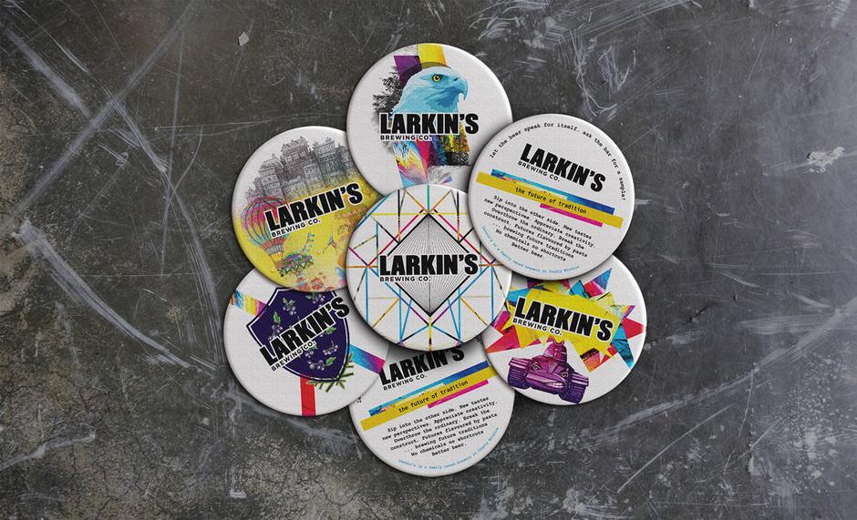 Larkin's Brewing Co. Beer Mat Design