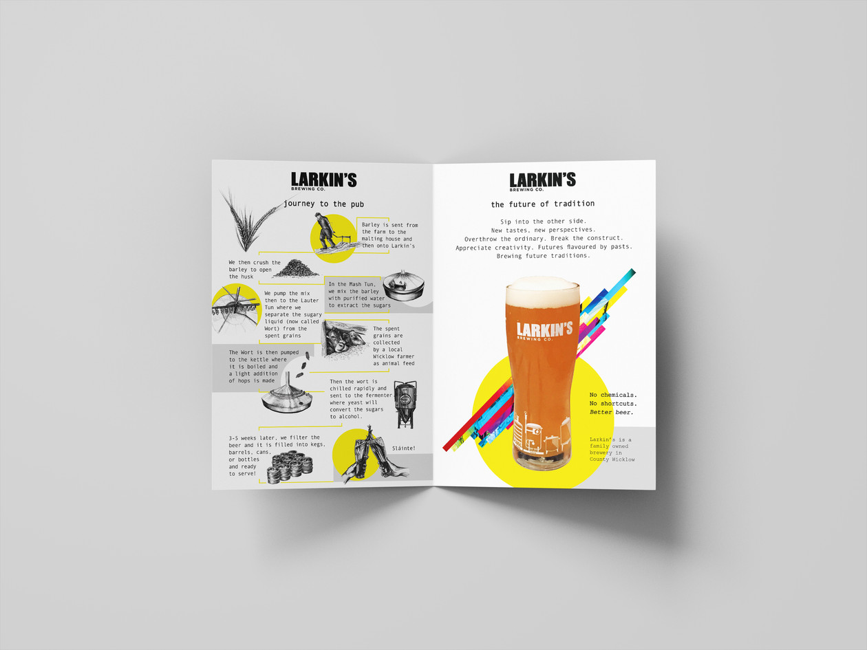 Larkin's Brewing Co. Brochure Design
