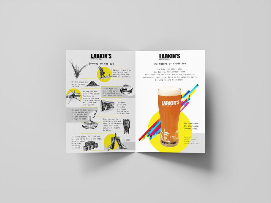 Larkin's Brewing Co. Brochure Design