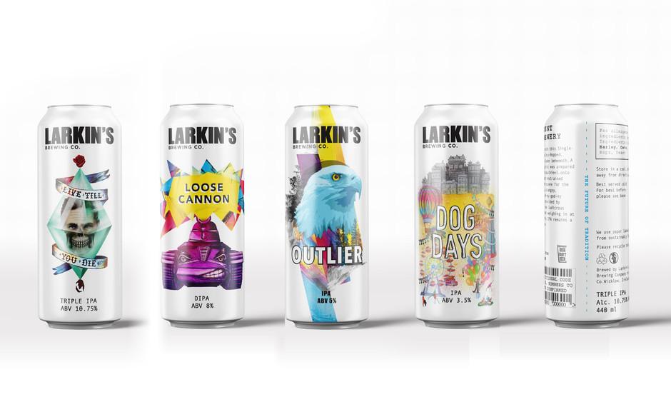 Larkin's Brewing Co. Beer Label Design