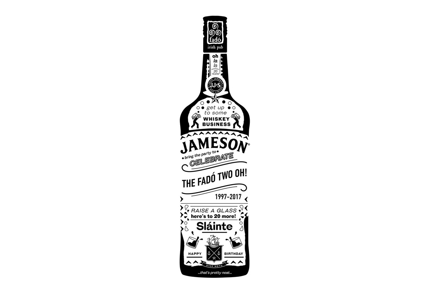 Jameson Typographic Illustration