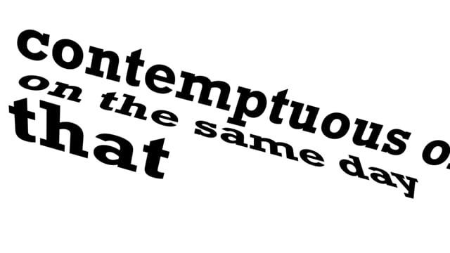 Kinetic Typography Video