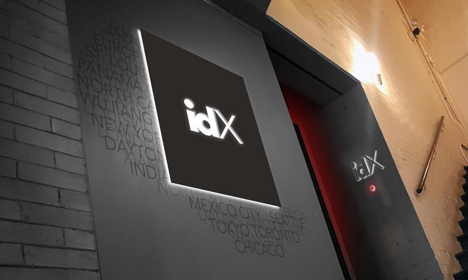 idX Corporation signage and wayfinding chicago