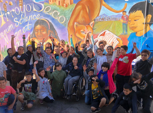 Candace Cable visits Arroyo Seco Museum Science Magnet School