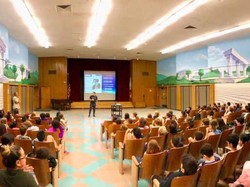 David Brinton Visits Calabash Elementary