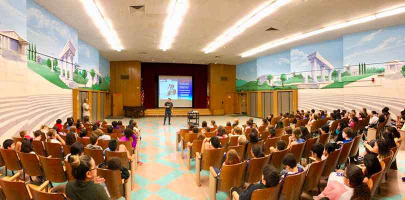 On September 17, David Brinton, who competed in the 1988 Olympics, visited Calabash Elementary and spoke with 4th and 5th graders about his path to the Olympics.