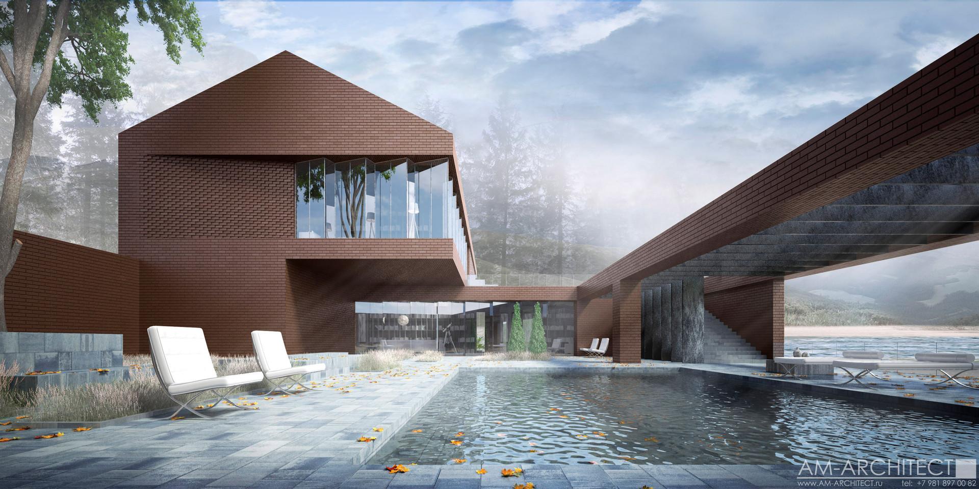 Дом-вилла с двориком патио