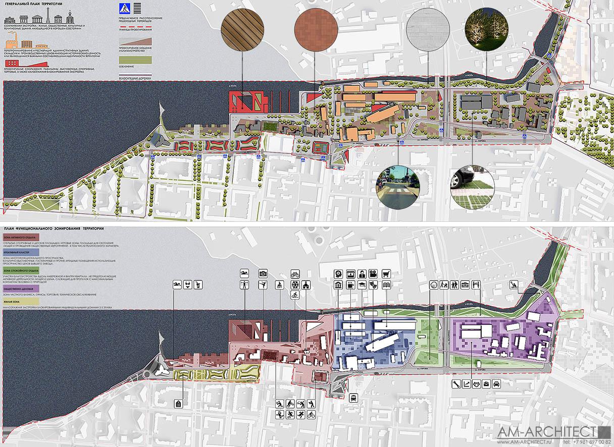 Концепция редевелопмента и благоустройства набережнойВерх-Исетского пруда.