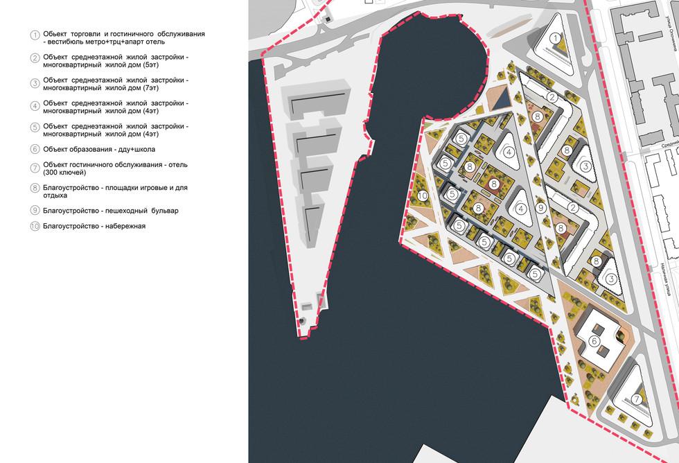 Схема генерального плана развития территории